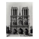 Fachada de Notre-Dame, París, fin del siglo XIX Tarjetas Postales