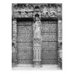 Fachada de Notre-Dame, salida el portal, París Postales