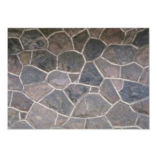 Fachada de piedra ilustrativa invitación 12,7 x 17,8 cm