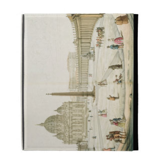 Fachada de San Pedro en Roma con la plaza en f