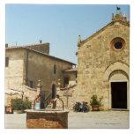 Fachada de una iglesia, iglesia del Romanesque, pl Azulejo Cerámica