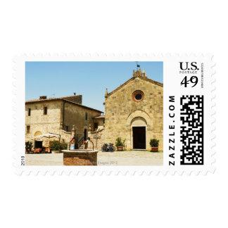 Fachada de una iglesia, iglesia del Romanesque, Sello