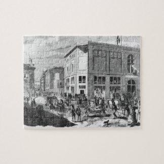 Fachada del hotel Drouot, París, c.1852 (engravi Rompecabeza Con Fotos