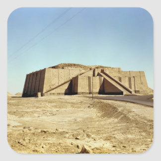 Fachada del noreste del ziggurat, c.2100 A.C. Pegatina Cuadrada