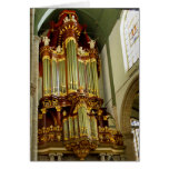 Fachada del órgano del Gouda Tarjeta De Felicitación