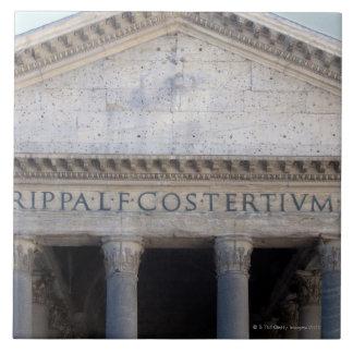 Fachada del panteón en Roma, Italia Azulejo Cuadrado Grande