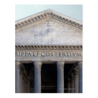 Fachada del panteón en Roma, Italia Tarjeta Postal