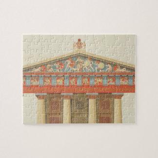 Fachada del templo de Júpiter en Aegina (323-27 Puzzles