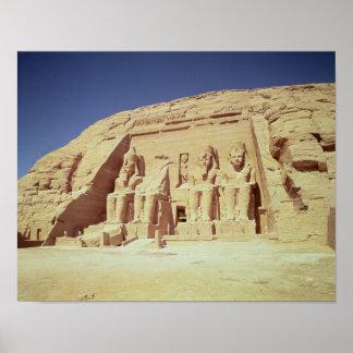 Fachada del templo de Ramesses II Póster