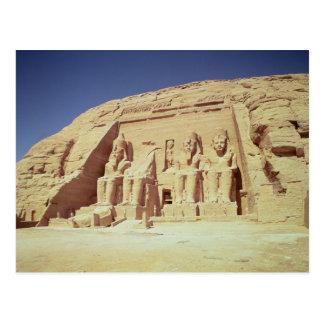 Fachada del templo de Ramesses II Postal