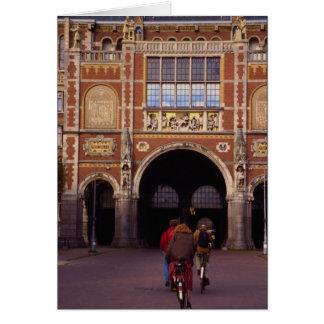 Fachada delantera del Rijksmuseum neogótico, Amste Tarjeta