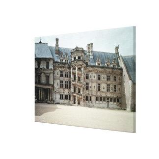 Fachada suroriental del ala de Francois I Impresión En Lienzo Estirada