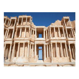 Fachada y etapa del anfiteatro romano tarjetas postales