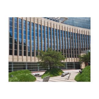 Fachada y plaza del tribunal en Minneapolis Impresión En Tela