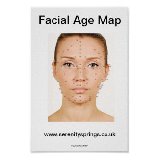 Facial Age Map Poster