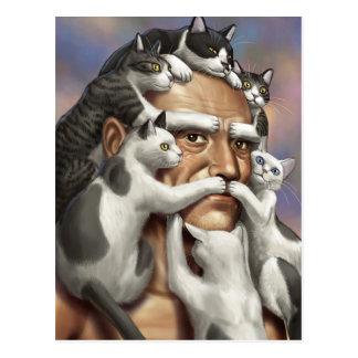 """Facial """"Cat"""" Hair Postcard"""