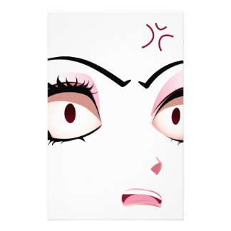 Facial Expression of Woman3 Stationery