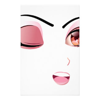 Facial Expression of Woman5 Stationery