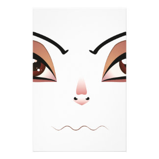 Facial Expression of Woman 4 Stationery