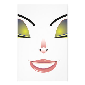 Facial Expression of Woman 6 Stationery