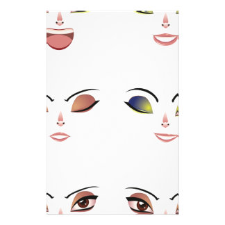 Facial Expression of Woman Face Stationery