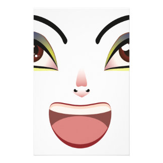 Facial Expression of Woman Stationery