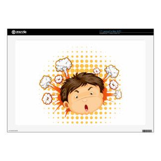 """Facial expression decal for 17"""" laptop"""