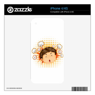 Facial expression decals for iPhone 4