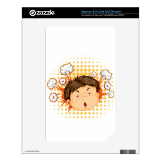 Facial expression decals for NOOK color