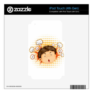Facial expression iPod touch 4G skins