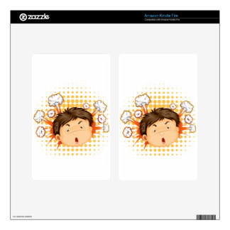 Facial expression skins for kindle fire