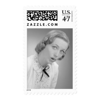 Facial Expressions Postage Stamp