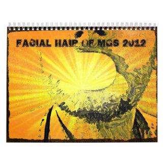 Facial Hair of MGS 2012 Calendars