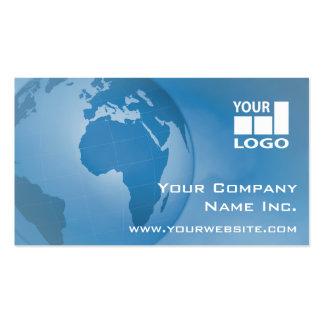 Fácil añada su azul corporativo global del tarjetas de visita