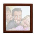 Fácil añadir la foto - caja de regalo