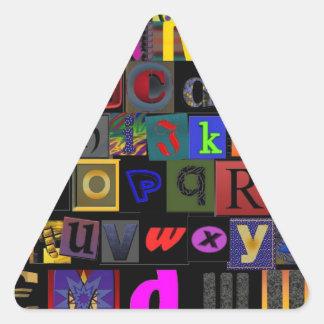 Fácil como ABC Pegatina Triangular