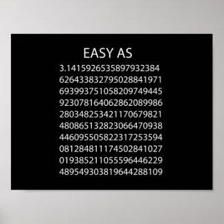 Fácil como pi póster