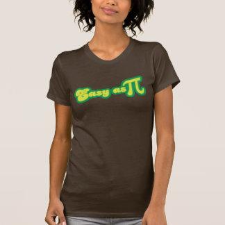Fácil como pi (verde) camisetas