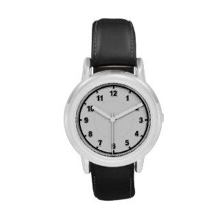 Fácil leer - negro en el reloj blanco