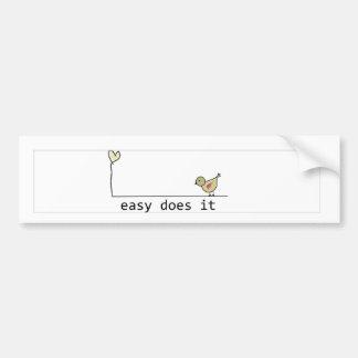 fácil lo hace etiqueta de parachoque