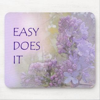 Fácil lo hace las lilas alfombrilla de ratón