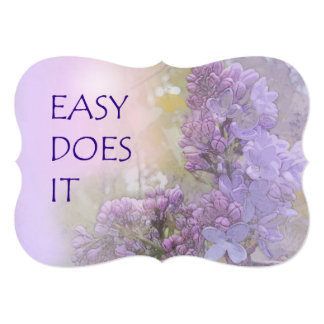 """Fácil lo hace las lilas invitación 5"""" x 7"""""""