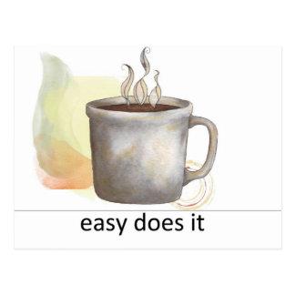 """""""fácil lo hace """" postal"""