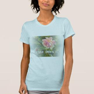 Fácil pica color de rosa camisetas