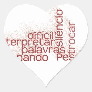 Fácil trocar como palavras, é de É de Difícil Pegatina En Forma De Corazón