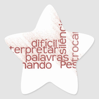 Fácil trocar como palavras, é de É de Difícil Pegatina En Forma De Estrella