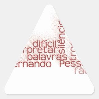 Fácil trocar como palavras, é de É de Difícil Pegatina Triangular