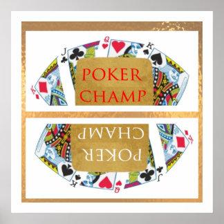 Facilitate the Winner - POKER CHAMPION ART Poster