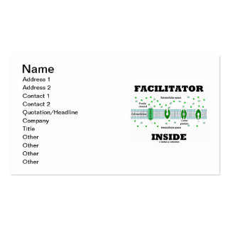 Facilitator Inside (Cell Biology Humor) Business Card