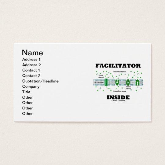 Facilitator Inside (Cell Biology Humor) Business Card
